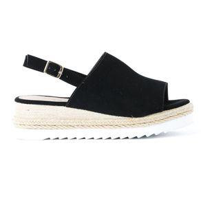 Anabela-Flatform-Sandalboot-Cordao-
